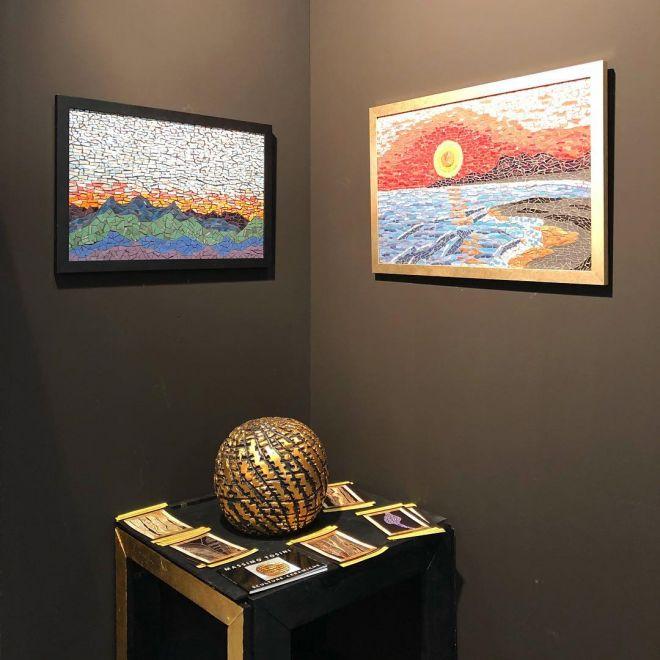 Scultura di Massimo Tosini - esposizione - MARCO ANTONIO PATRIZIO Gallery ArtParma Fair Booth 38