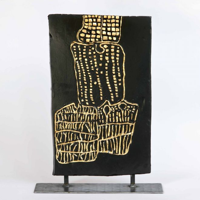 """44 """"Le Basi della Fede"""", 2018, 28x45 cm (senza supporto/piedistallo)"""